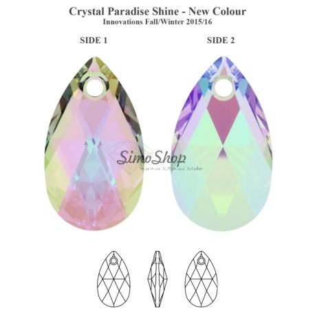6106 MM 16,0 CRYSTAL PARADSH Swarovski Elements 6106 Paradise Shine 16mm