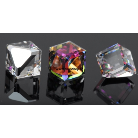 P1196-SWAROVSKI ELEMENTS 4841-Crystal Vitrail Medium Unfoil 8mm