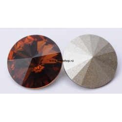 P1212-SWAROVSKI ELEMENTS 1122 Smoked Topaz Foiled SS47-11mm