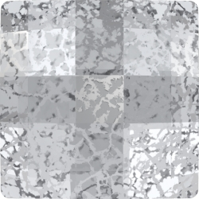 P3286-Swarovski Elements 2493 Chessboard Crystal Silver Patina 10mm