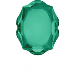 P3071-Swarovski Elements 4142 Emerald Foiled 18x14mm Baroque Mirror