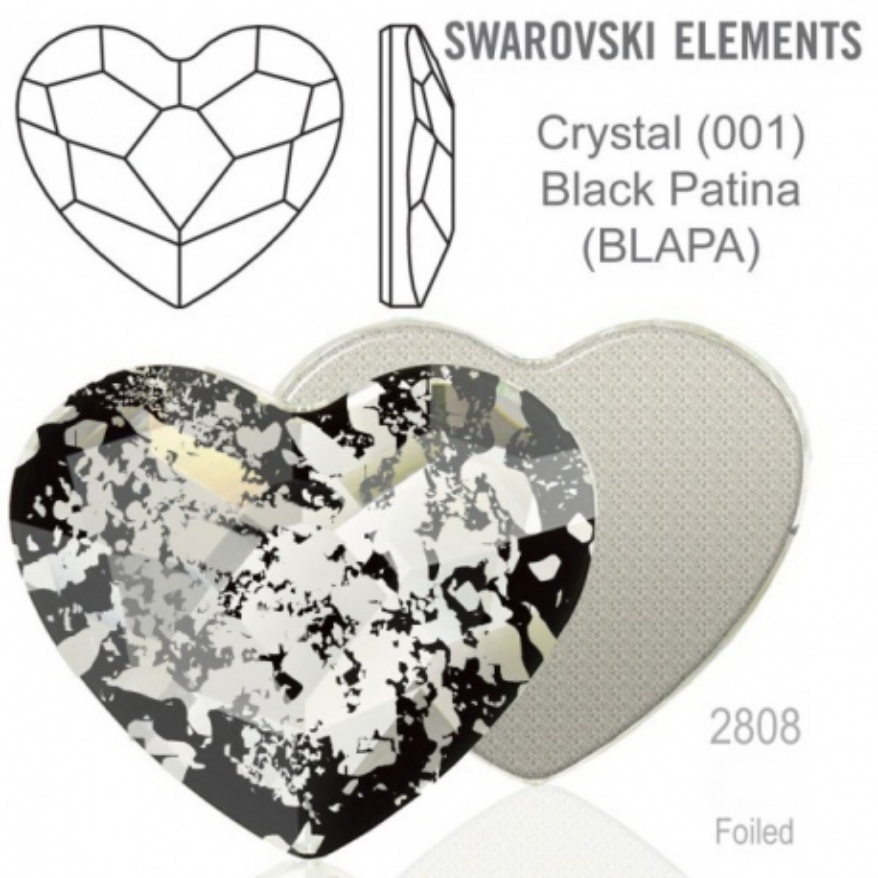 P3305-Swarovski Elements 2808 Crystal Black Patina F 14mm