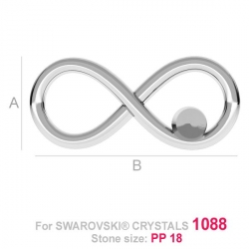 G1221-Charm link infinit Love din argint 18,5x84mm 1buc