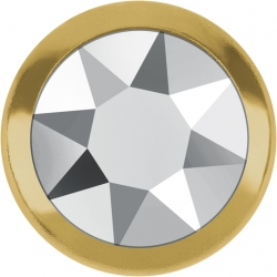 2753-Swarovski Elements 2078/H Crystal Golden Shadow Silver-Foiled GR 7mm - 1BUC