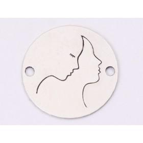 G1574 - Inel Logodna de argint 925 cu cristal de 9MM, diametru 16.30MM - 1Buc