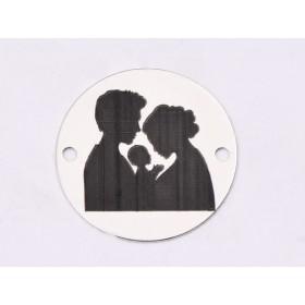 G1581- Inel Logodna de argint 925 cu cristal de 9MM, diametru 17.50MM - 1Buc