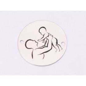 G1579- Inel Logodna de argint 925 cu cristal de 9MM, diametru 18.80MM - 1Buc