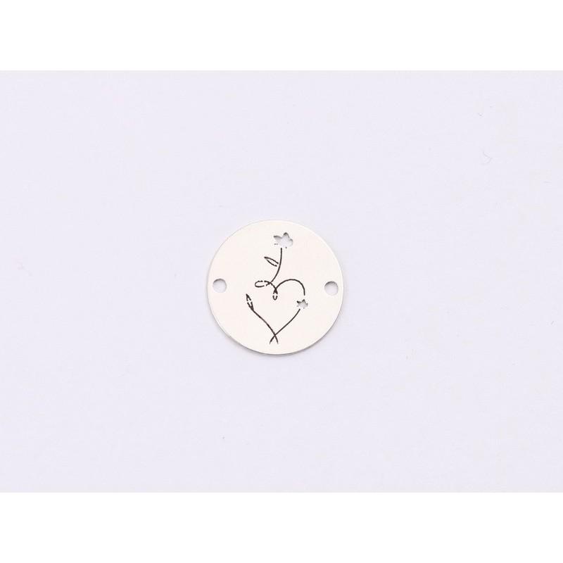 G1658- Pandantiv inimioara cu agatatoare si loc pentru 11 cristale swarovski PP9  - 1buc