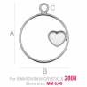 G1688-Baza pentru Swarovski Heart 2808 de 6mm RIGHT