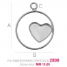 G1692-Baza pentru Swarovski Heart 2808 de 10mm Right