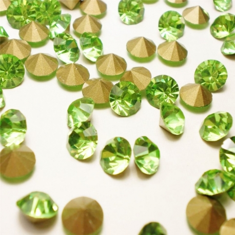 P1266-Swarovski Elements 1088 Peridot Foiled SS34 7mm 1 buc