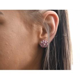 2970 -Swarovski Elements Ring diametrul 15.6mm Amethyst PP18