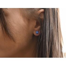 2973 -Swarovski Elements Ring diametrul 15.6mm Blue Zircon PP18