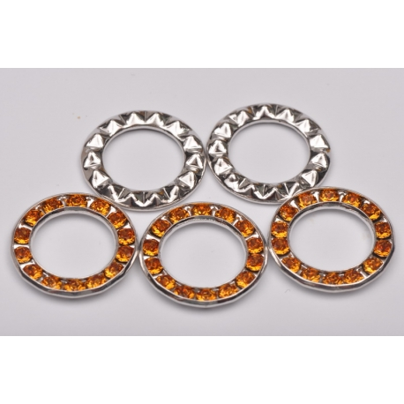2985-Swarovski Elements Ring diametrul 15.6mm Topaz PP18