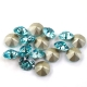 P1292-Swarovski Elements 1088 Light Turquoise Foiled SS34 7mm