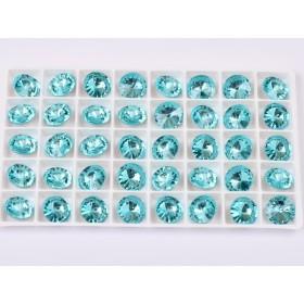 G1708- Inel Logodna de argint 925 cu cristal de 6MM, diametru 15.70MM