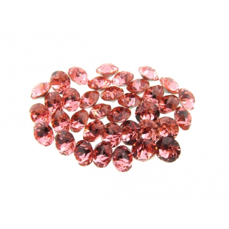 P1304-Swarovski Elements 1088 Rose Peach Foiled SS34 7mm 1 buc