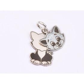G1803-Charm Luna Soare argint 16MM 1 buc