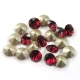 2085-Swarovski Elements 1088 Ruby Foiled PP 18 2.5mm 1 buc
