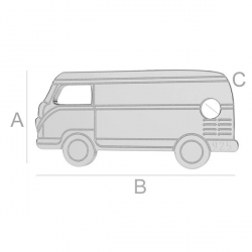 G0207-Charm link microbuz din argint 925 14x6.5mm 1 buc