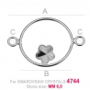 G1827-Baza link pentru Swarovski 4744 Flower 6MM-1buc