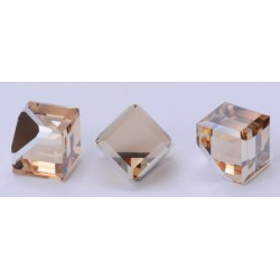 P1318-SWAROVSKI ELEMENTS 4841-Crystal Golden Shadow Unfoiled 8mm
