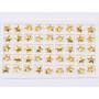 G1829-Baza link pentru doua Swarovski 4744 Flower 6MM-1buc