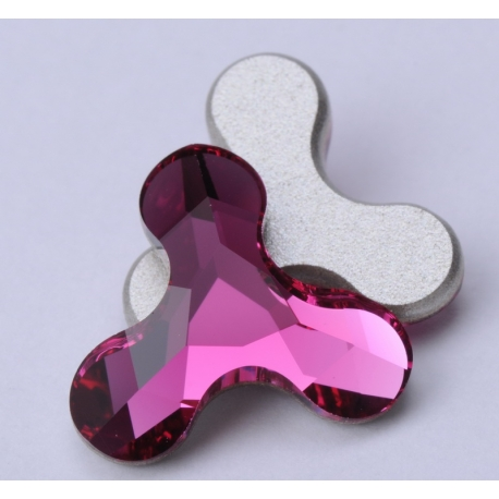 P1344-SWAROVSKI ELEMENTS 2708 Fuchsia F 12.5x13.6mm