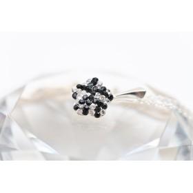 G524-Charm banut argint cu o gaura si za 16.50mmx0.33mm