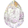 P3439-Swarovski Elements 4320 Crystal White Patina Foiled 14x10MM-1buc