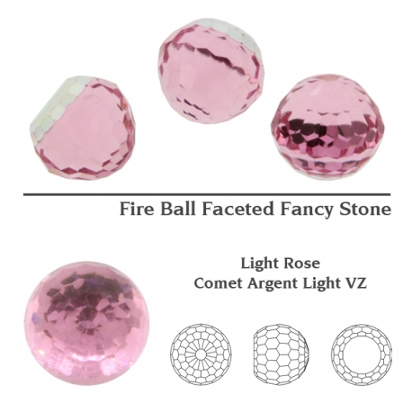 P1360-SWAROVSKI ELEMENTS 4869 Ligh Rose Comet Arg Light 8mm