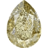 P3443-Swarovski Elements 4320 Crystal Gold Patina Foiled 14x10MM-1buc