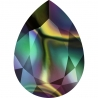P3444-Swarovski Elements 4320 Crystal Rainbow Dark Foiled 14x10mm-1buc