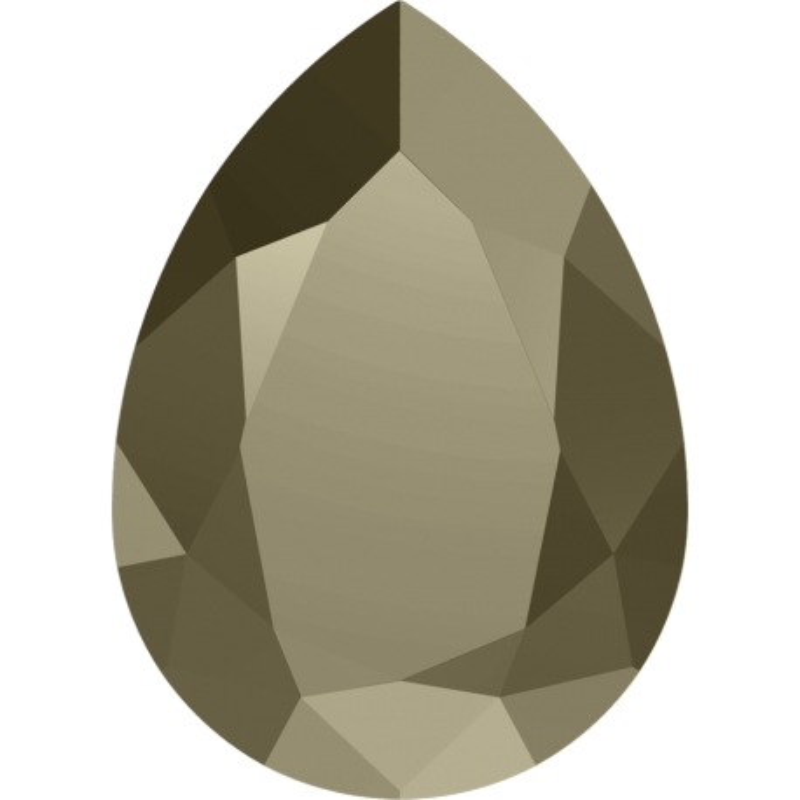 P3445-Swarovski Elements 4320 Crystal Metallic Light Gold Foiled 14x10mm-1buc