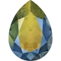 P3451-Swarovski Elements 4320 Crystal Iridescent Green Foiled 14x10MM-1buc