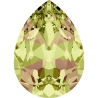 P3452-Swarovski Elements 4320 Crystal Luminous Green Foiled 14x10MM-1buc