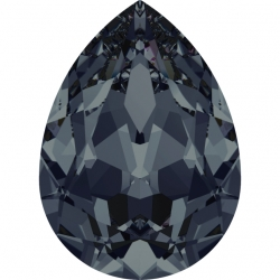 P3454-Swarovski Elements 4320 Graphite Foiled 14x10MM-1buc
