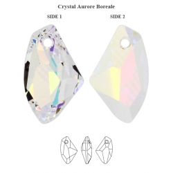 P3463-SWAROVSKI ELEMENTS 6656 Crystal Aurore Boreale 19MM Stanga-1 buc