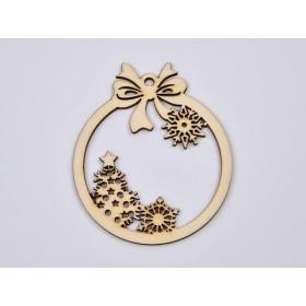 Inel rotund reglabil Light Rose cu Ceralun si Swarovski Xirius 1088 Crystal 18mm