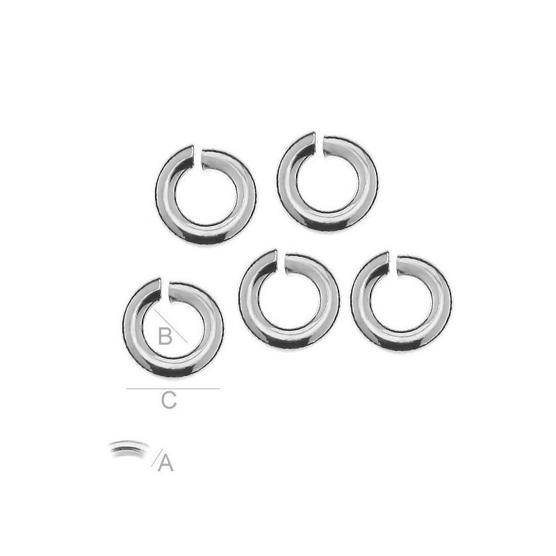 G0186-Link pentru Swarovski Rivoli 8mm 2 bucle 1 buc