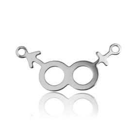 G0159-Link pentru swarovski rivoli 6mm 2 bucle 1 buc