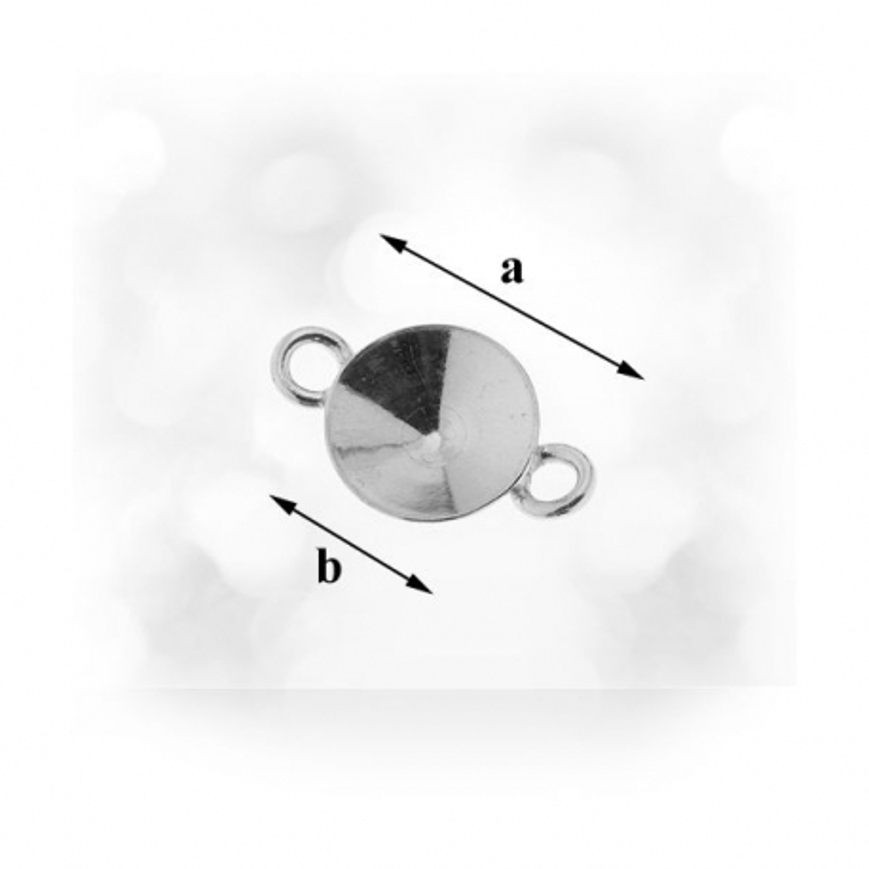 G159-Link pentru swarovski rivoli 6mm 2 bucle 1 buc