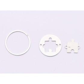 G1834-Tortita deschisa ovala pentru ceralun 10x14mm bordura de 3mm