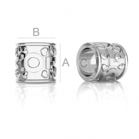 G1874-Distantier LOVE argint 925 6.10mm pentru bratari tip pandora - 1buc