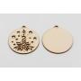 P3473-Swarovski Elements 4933 Tilted Dice Crystal Red Copper Z CalVSi 19mm