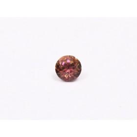Cercei heart 14mm cu Ceralun si cristale Swarovski Amethyst Fuchsia Rose
