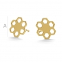 AU048-Tija cercel floare Aur 585 14k 10mm-1buc