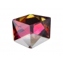 P3474-Swarovski Elements 4933 Tilted Dice Crystal Red Copper Z CalVSi 27mm