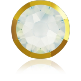 P3528-Swarovski Elements 2088/I White Opal Dorado Z Foiled 7mm-1buc