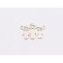 P3530-Swarovski Elements 2088/I Greige Dorado Z Foiled 7mm-1buc